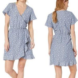 J. Crew Mercantile Floral Cotton Faux-Wrap Dress
